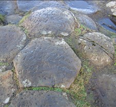 Hexagonal basalt
