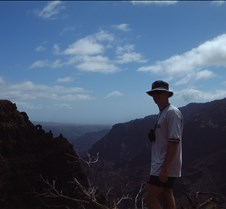 Brad on Kauai Canyon overlook