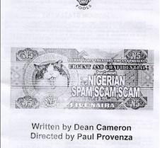 Nigeriam Spam Scam Scam handbill