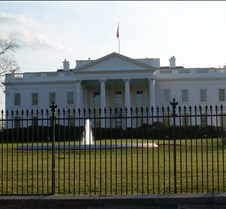 White House - Rear Fence