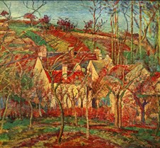 038The Red Roofs-Camille Pissarro-1877-M