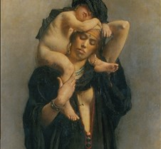 Egyptian Woman & Child-Leon Bonnat-1869-