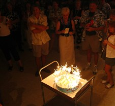 Sparklers on Jims birthday cake