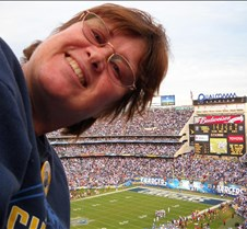 at Charger game