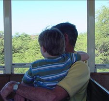 Grant and Grandpa on a Train