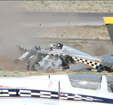 Thunder Mustang #75 Air Race Crash 463a