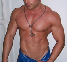Michael Angelo Blue shorts