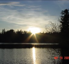 40.Sunset in Jack lake