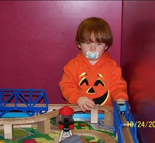 Philbeck Familiy October 2005 Hunter gets a haircut at Cool Cuts for Kids, Halloween - Hunter is a lion, GYmboree Halloween Party, Jayden's 2nd Birthday, Clinton Event, Pumpking Carving as  Family, Trick Or Treating, Mike Painting the Garage