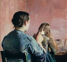 Braiding Her Hair-Christian Krohg-1888-N