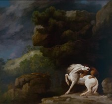 339Lion Attacking a Horse-George Stubbs-