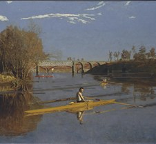 Max Schmitt in a Single Scull-Thomas Eak