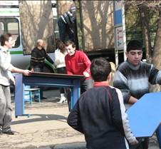 Students Unload Trucks