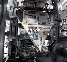 Banner being printed