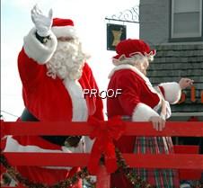 Santas waving