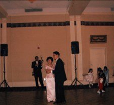 Ed dancing with his mother