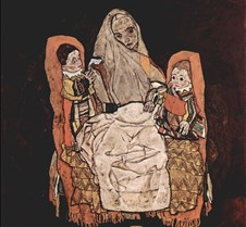 Woman with Two Children–Egon Schiele– 19