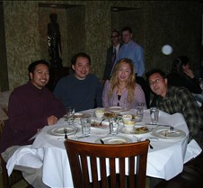 Cyndi's Birthday 12/3/04 Cyndi, Minh, David, Heather, Ramil @ Straits in Palo Alto