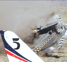 Thunder Mustang #75 Air Race Crash 458a