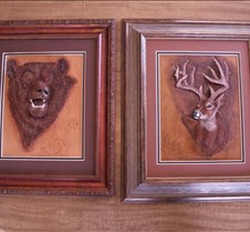 Deer and bear framed