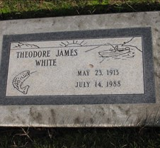 Theodore James White Headstone