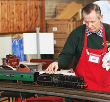 Rod Blakeman With His LMS/BR Locomotive