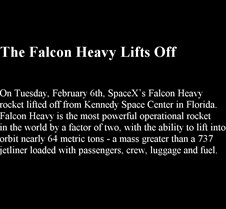 The Falcon Heavy Lifts Off