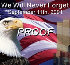 We Will Never Forget <br> with text