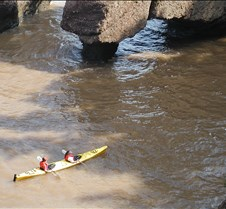 Kayaking between the rocks