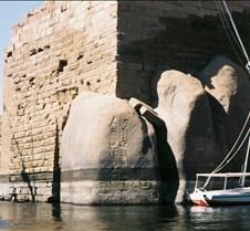 Ramses' cartouche w/flood line