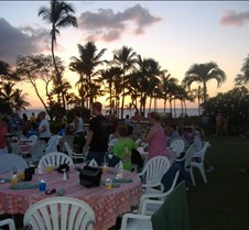Luau in Maui at sunset