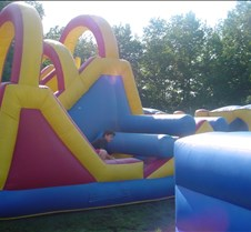 Anthony on the obstacle course
