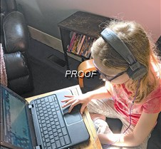 Mari Jordahl at computer