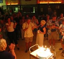 Sparklers on Jims birthday cake