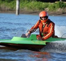 Green boat close