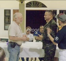 Grant and Colonel of army with SeaBees h