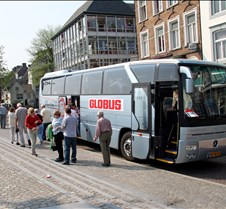 Our Tour Bus in Maastricht Holland