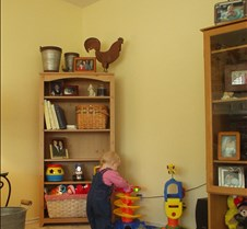 Mommy's new shelf for all my toys