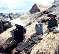 Wetting Down Thatched Roof