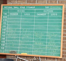 Sign-up Board For Track Time