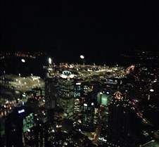 view at night sky tower