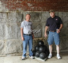 Mike and Mike and a pile of cannon balls
