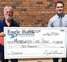 Eagle Bank-MLA donation