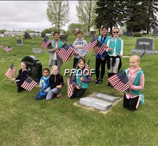 flags cemetry girl scouts