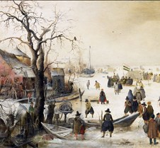 271Winter Scene on a Canal-Hendrick Aver