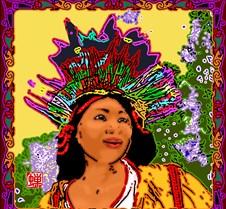 Luoshen in a costume