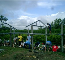 072 putting wire frame for foundation