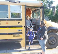 Back to school getting off the bus 2