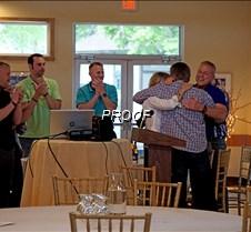 Steve, Nancy and Jeff hugging