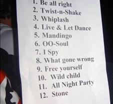 061 a fan shows his setlist